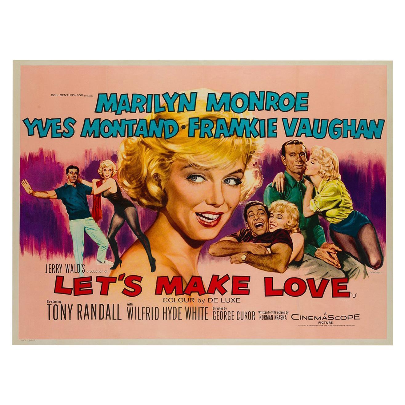 Let's Make Love Original UK Film Poster, Tom Chantrell, 1960