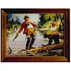 """Let's Negotiate"" Original Oil Painting by Henry Hintermeister"