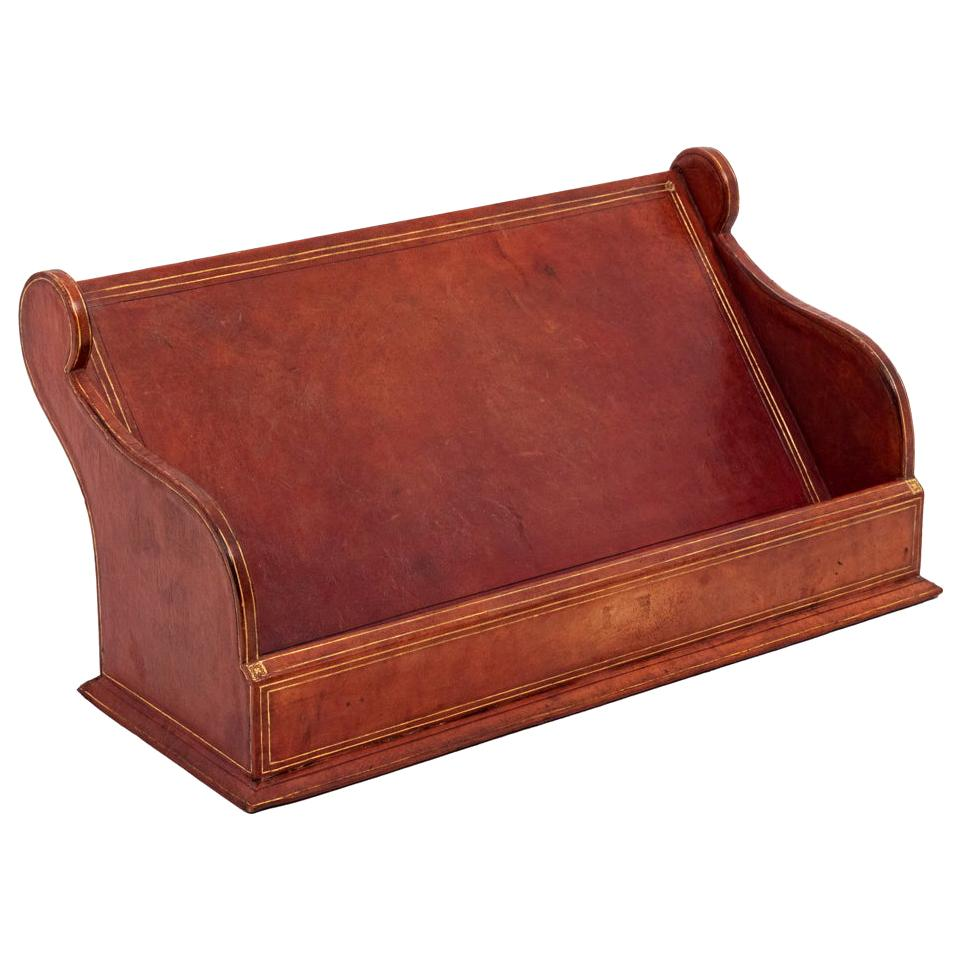 Letter Holder in Leather, 20th Century