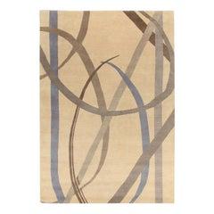 Lettera Disegnata Gray Carpet by Gio Ponti