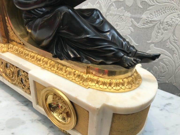 L'Etude et La Philosophie Louis XVI Ormolu Mantel Clock For Sale 1