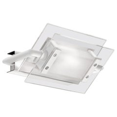 Leucos 360° P-PL 120 Wall Light in Satin, Transparent and White by Design Lab