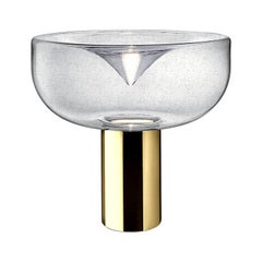 Leucos Aella 1968 T LED Table Light in Antico and Gold by Toso & Massari