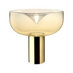Leucos Aella 1968 Table Lamp, Amber/Gold LED