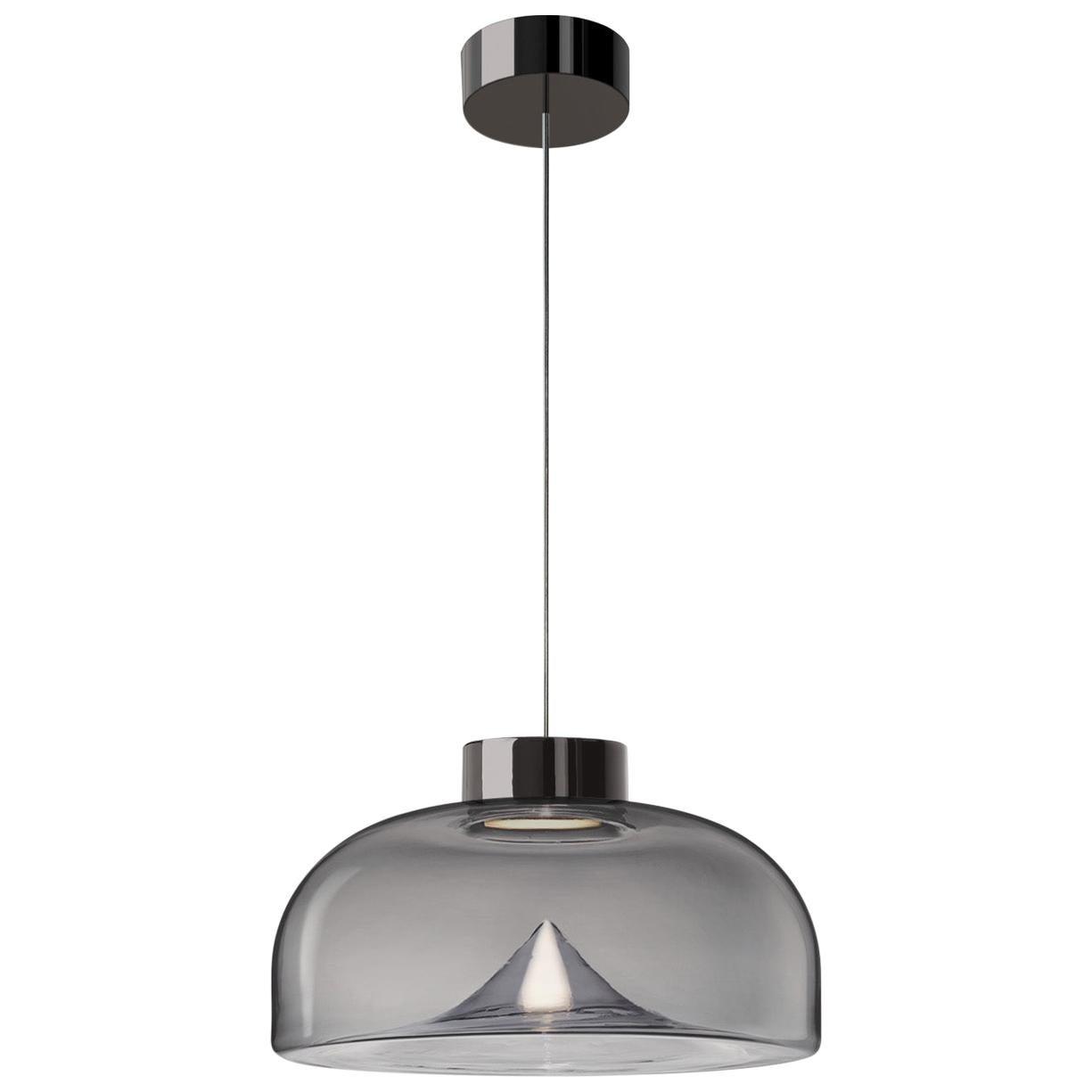 Leucos Aella Mini LED Pendant Lamp, Smoke Grey/Chrome