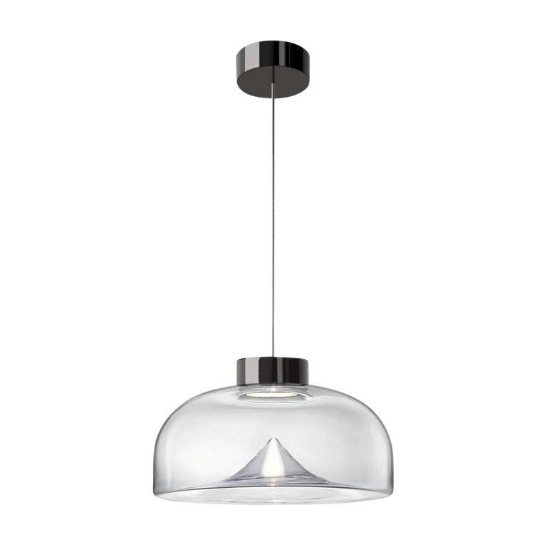 Leucos Aella Mini LED Pendant Lamp, Transparent/Gunmetal