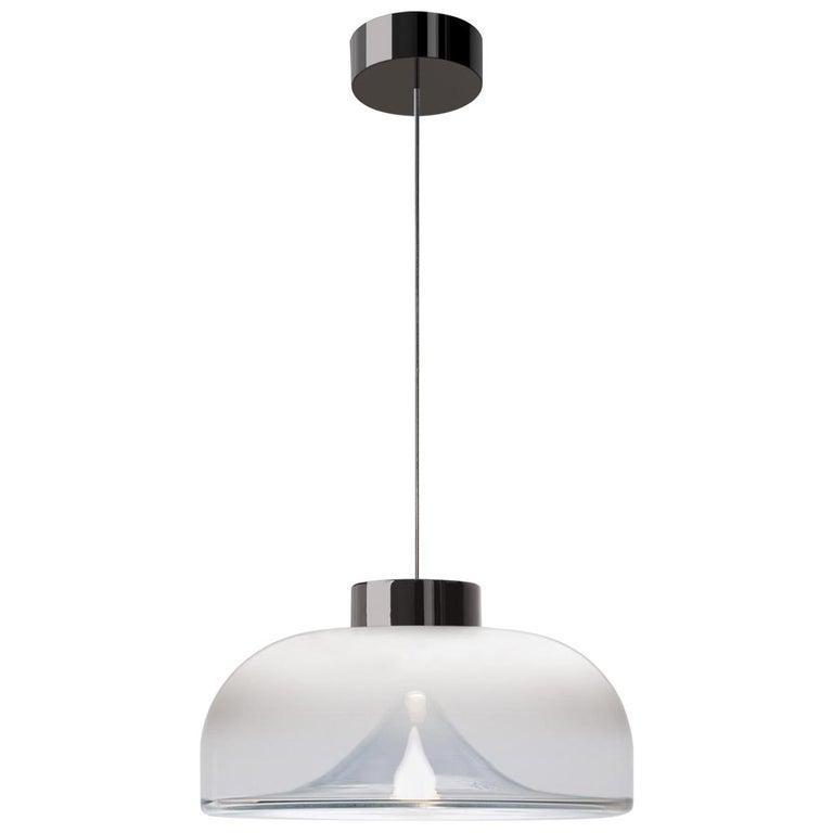 Leucos Aella Mini LED Pendant Lamp, White Sfumato/Gunmetal For Sale