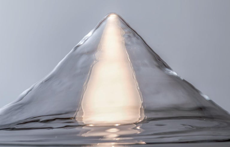Modern Leucos Aella Mini LED Wall/Ceiling Lamp, Transparent/Gunmetal For Sale