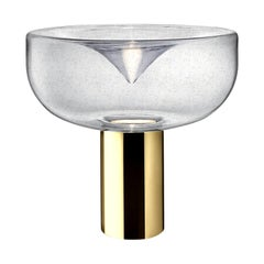 Leucos Aella Mini T 30 LED Table Light in Antico and Gold by Toso & Massari