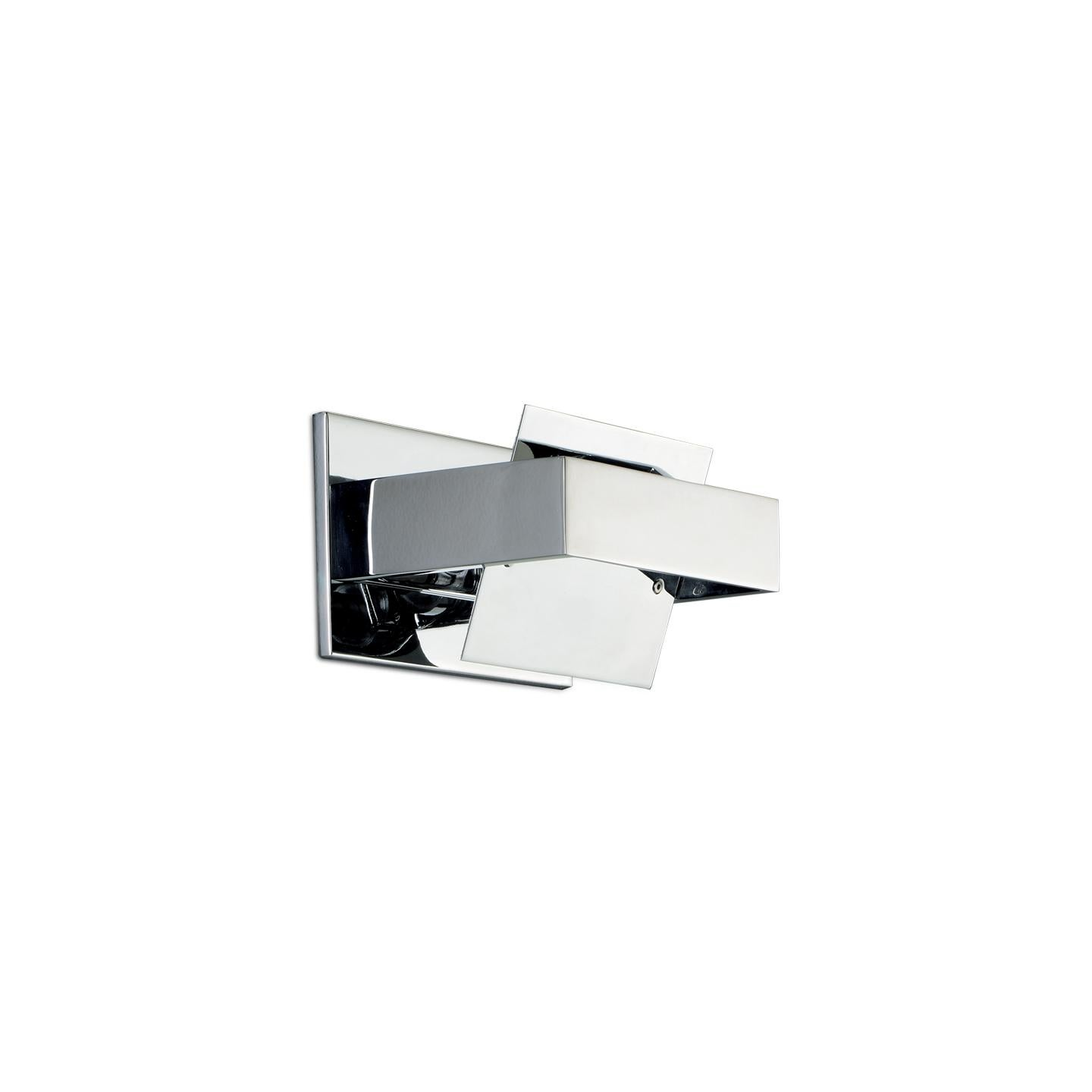 Leucos Ala P 16 Wall Sconce in Chrome and Chrome by Mauro Marzollo