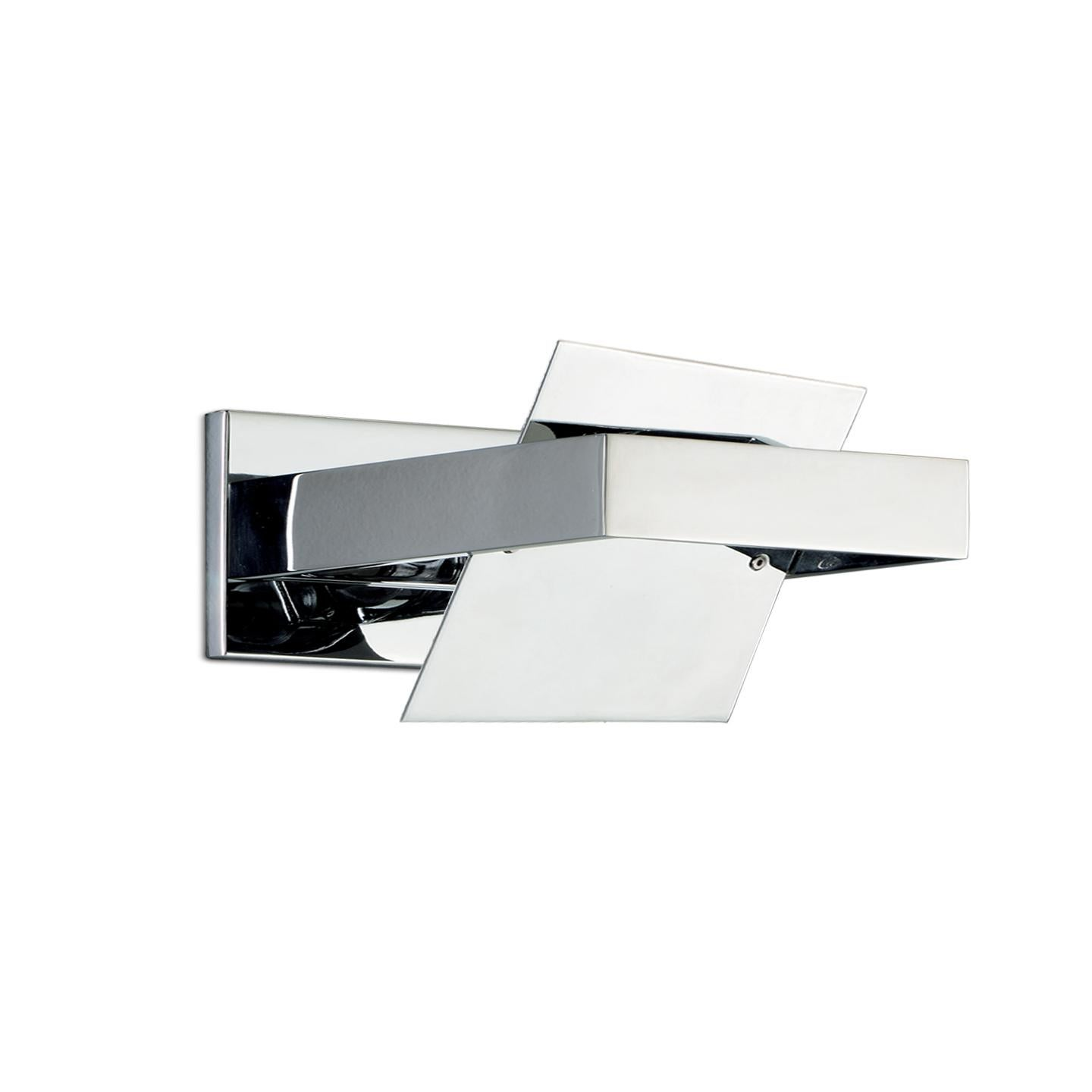 Leucos Ala P 25 Wall Sconce in Chrome and Chrome by Mauro Marzollo