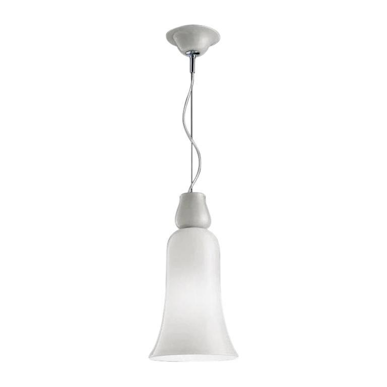 Anni Trenta Suspension Lamp by Venini, White For Sale
