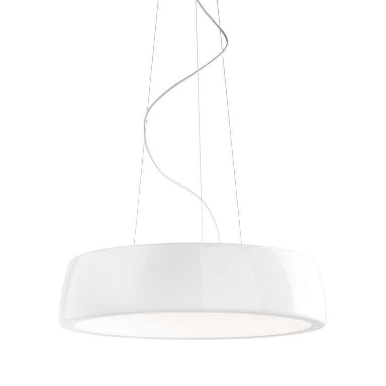 The Axel pendant, by Steven Haulenbeek, is a beautiful, circular integrated LED pendant that will create a sleek look in your kitchen, dining, entry, office or contract setting. The exterior of the Axel is a high performance compact polyurethane