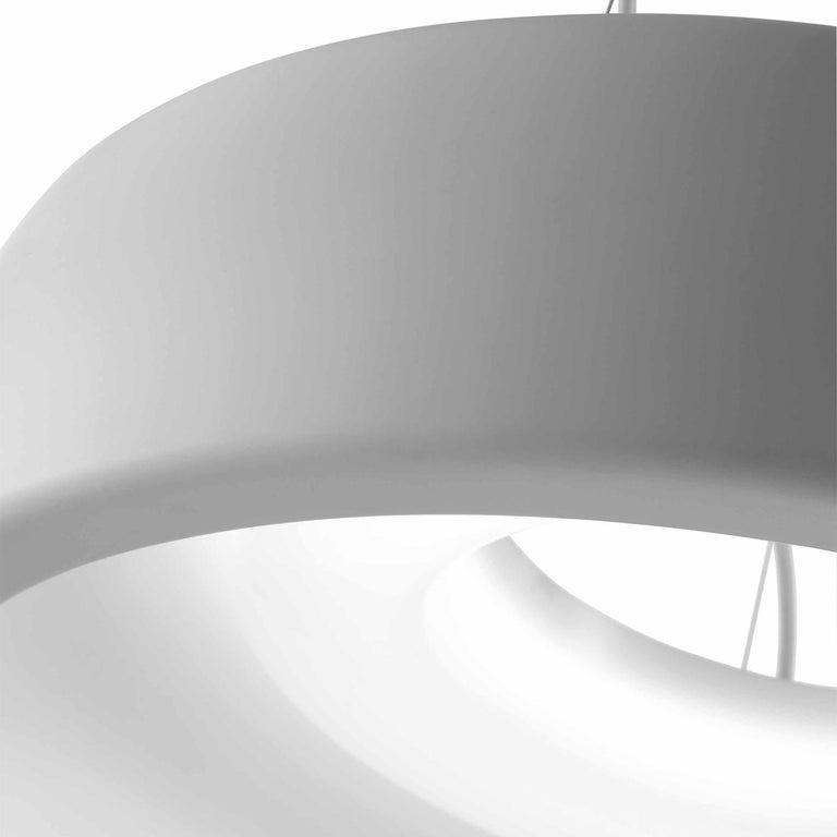 Modern Leucos Axel S LED 3000K Pendant Light in Matte White by Steven Haulenbeek For Sale