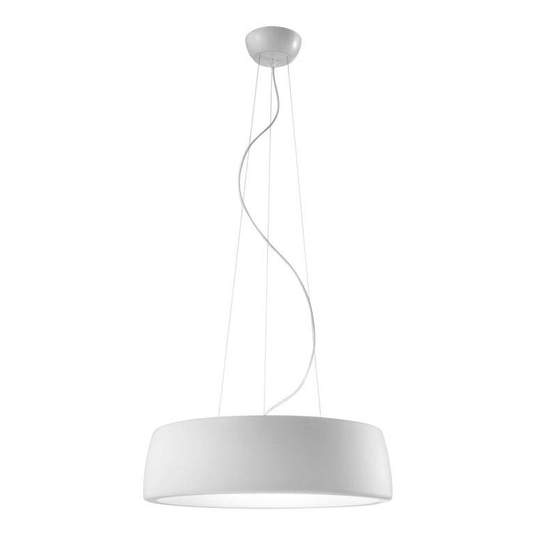 Leucos Axel S LED 3000K Pendant Light in Matte White by Steven Haulenbeek For Sale