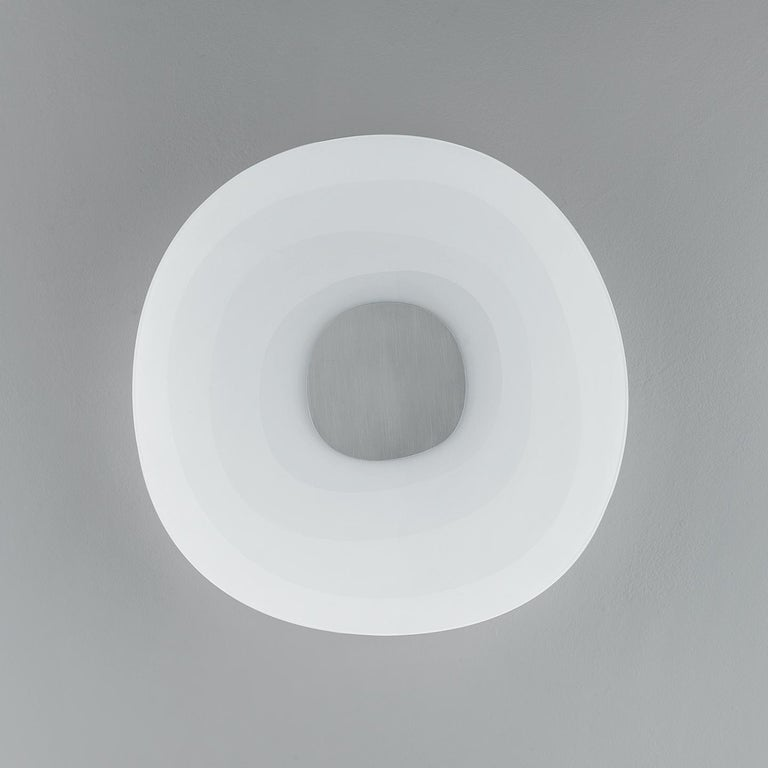 Italian Leucos Beta Big Flush Mount in White and Sand by Paolo Franzin For Sale