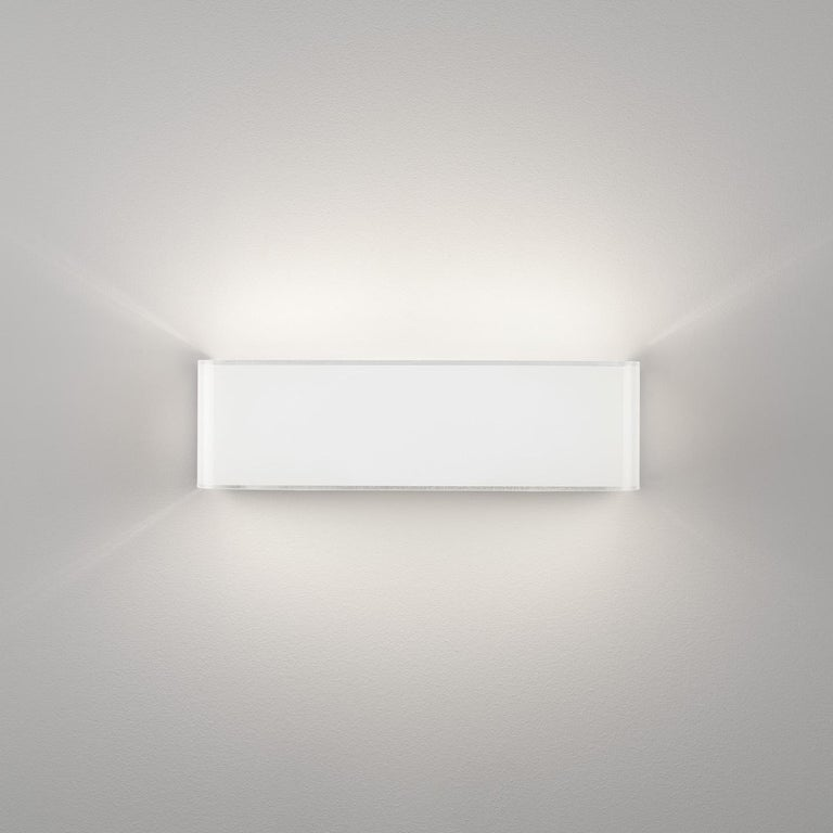 Modern Leucos Block P 29 Wall Sconce in Glossy White by Design Lab For Sale