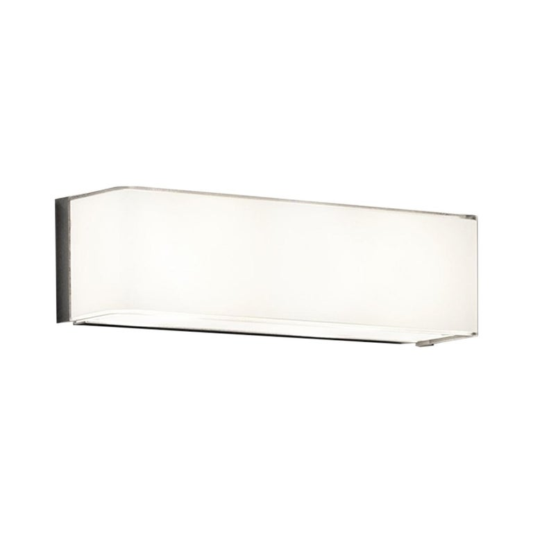 Leucos Block P 29 Wall Sconce in Glossy White by Design Lab For Sale