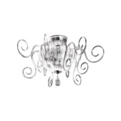 Leucos Bolero PL Ceiling Light in Crystal and Chrome by Carlo Nason