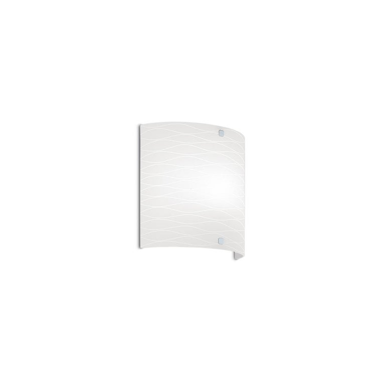 Leucos Class P Wall Light in Satin Milky White and Chrome by Design Lab For Sale
