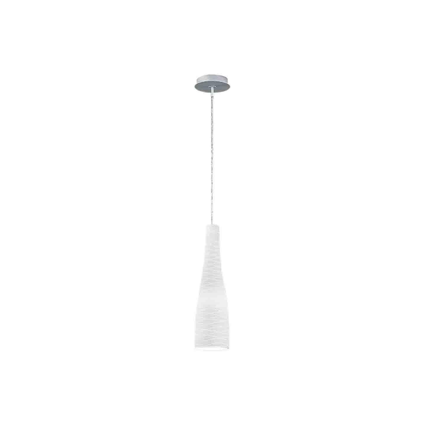 Leucos Class S 40 Pendant Light in Satin Milky White and Gray by Design Lab