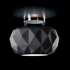 Leucos Deluxe PL 35 LED Flush Mount in Matte Black and Chrome by Archirivolto
