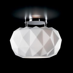 Leucos Deluxe PL 35 LED Flush Mount in Satin White and Chrome by Archirivolto
