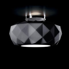 Leucos Deluxe PL 50 LED Flush Mount in Matte Black and Chrome by Archirivolto