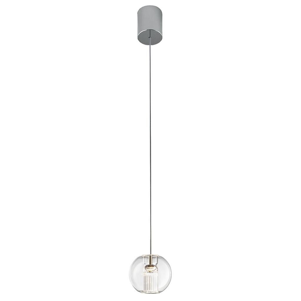 Leucos Fairy S S LED Pendant Light in Transparent and Chrome