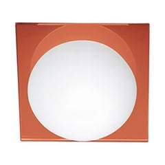 Leucos Gio P-PL 15 Wall Sconce in Satin White and Orange by Michele Sbrogiò