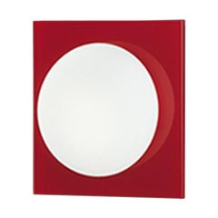 Leucos Gio P-PL 15 Wall Sconce in Satin White and Red by Michele Sbrogiò