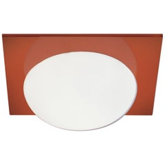 Leucos Gio P-PL 30 Wall Sconce in Satin White and Orange by Michele Sbrogiò