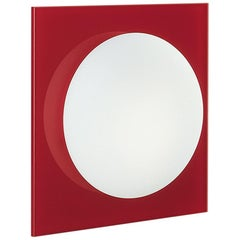 Leucos Gio P-PL 30 Wall Sconce in Satin White and Red by Michele Sbrogiò