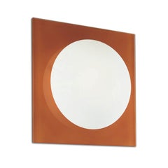 Leucos Gio P-PL 40 Wall Sconce in Satin White and Orange by Michele Sbrogiò