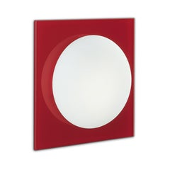 Leucos Gio P-PL 40 Wall Sconce in Satin White and Red by Michele Sbrogiò