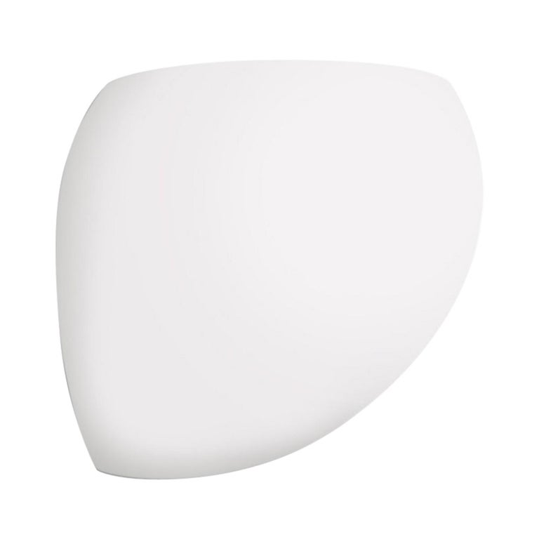 Modern Leucos Golf P LED Wall Light in Satin White and Brushed Nickel by Toso & Massari For Sale