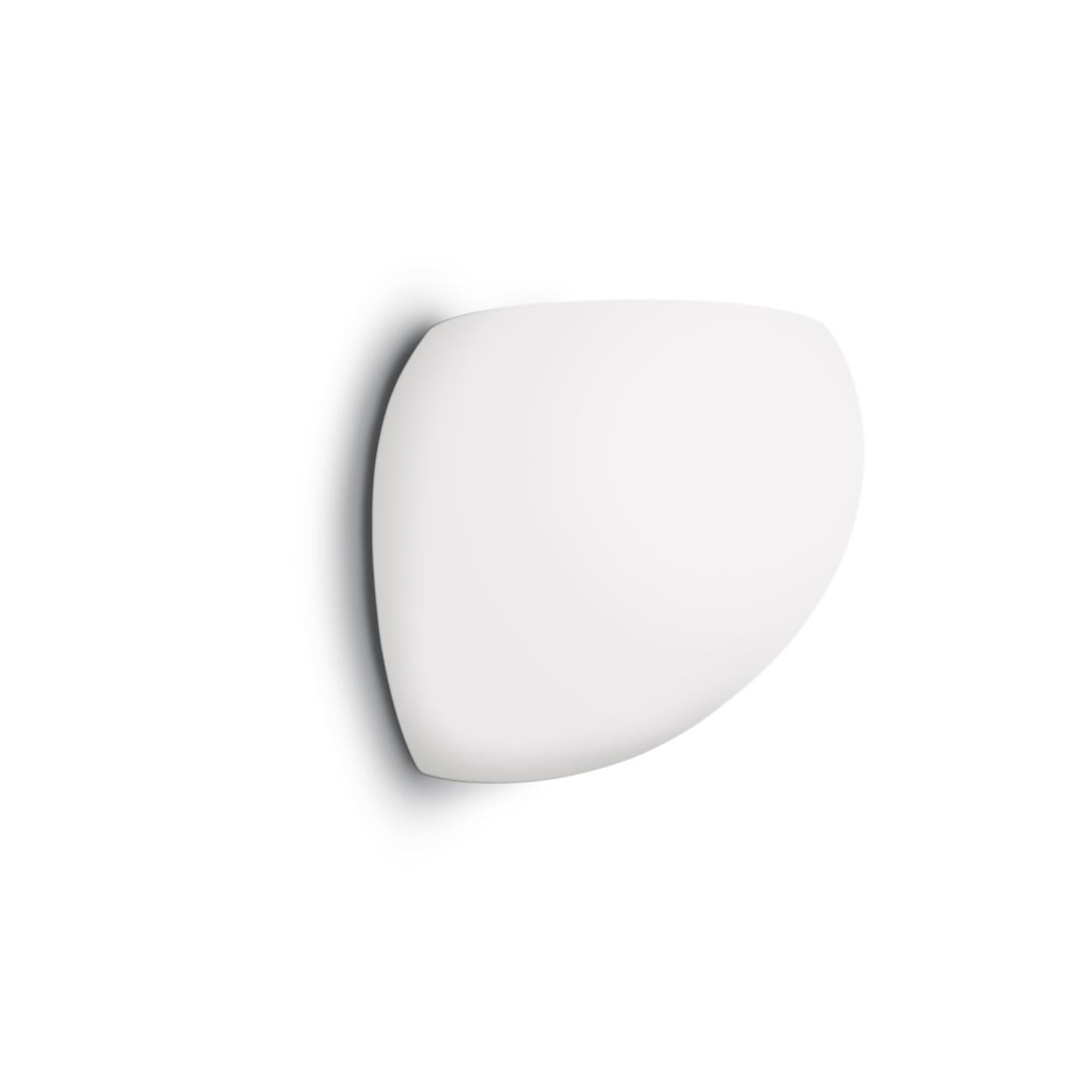 Leucos Golf P LED Wall Light in Satin White and Brushed Nickel by Toso & Massari