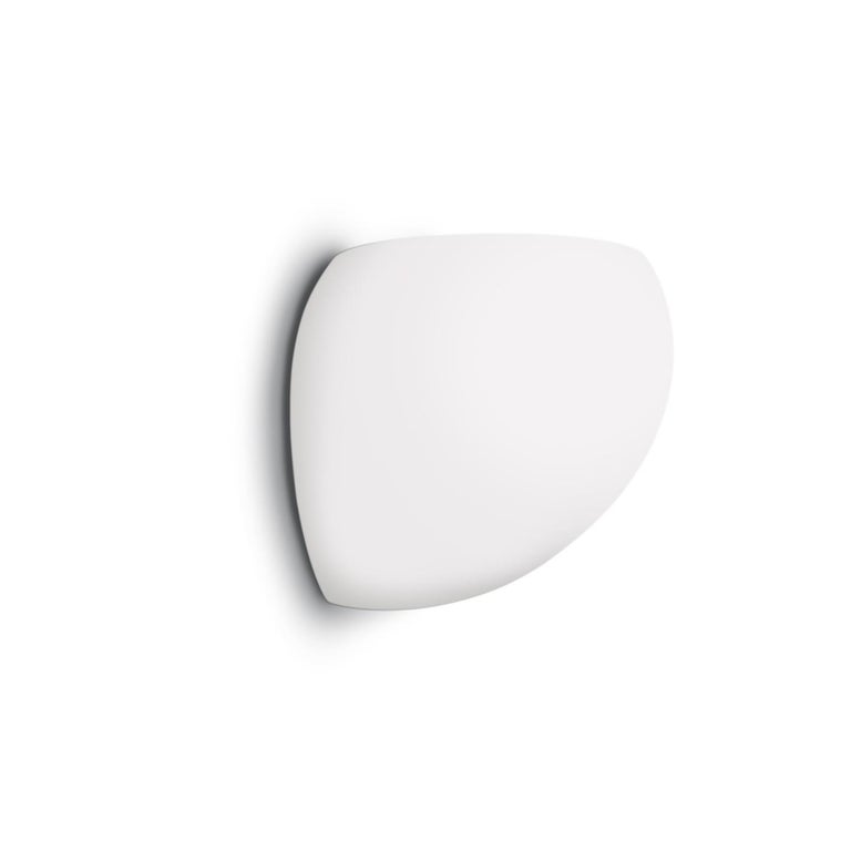 Leucos Golf P LED Wall Light in Satin White and Brushed Nickel by Toso & Massari For Sale