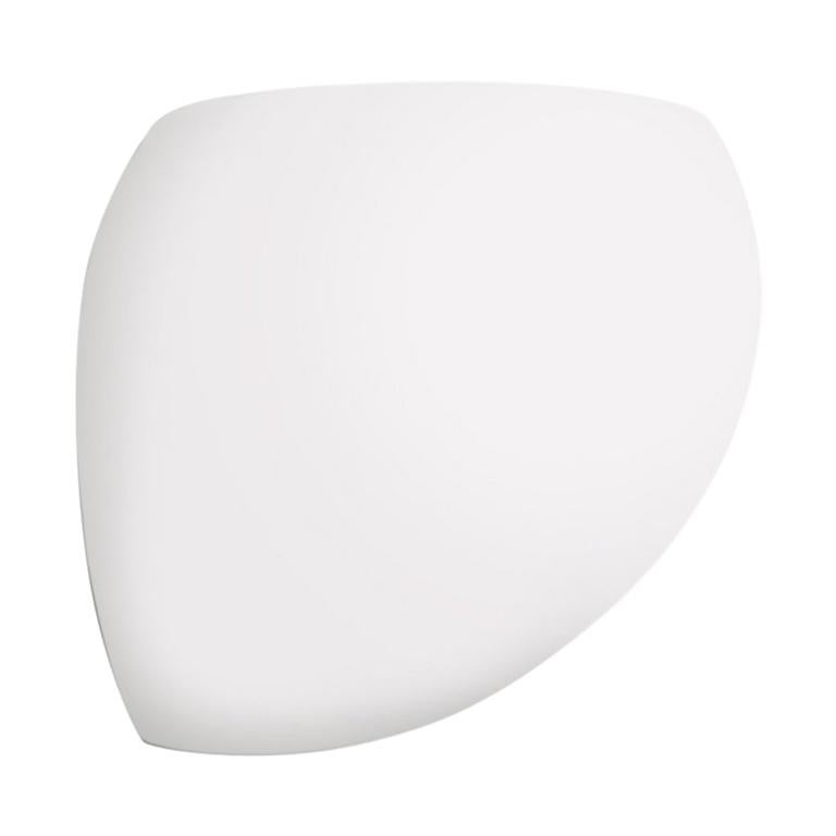 Modern Leucos Golf P Wall Light in Satin White and Chrome by Toso & Massari For Sale