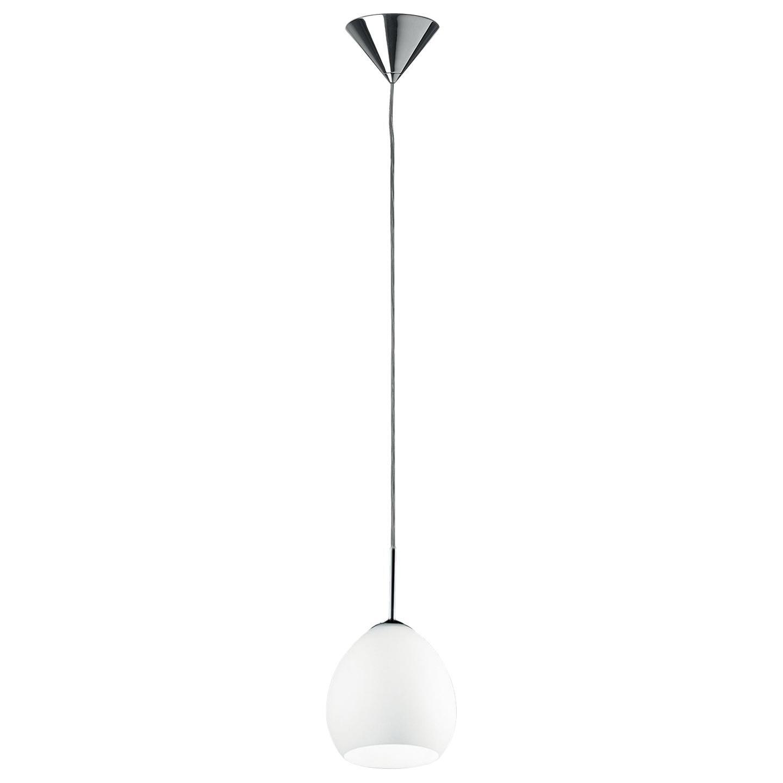 Leucos Golf S Pendant Light in Satin White and Chrome by Toso & Massari