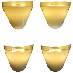Leucos Italian Midcentury Murano Glass Sconces Wall Lamps, 1970s