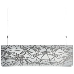 Leucos Laguna 75 Platinum Pendant Light by Toso, Massari & Assoc. with G. Toso