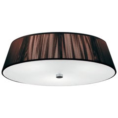 Leucos Lilith PL 40 Flush Mount in Mocha in White & Brushed Nickel by Design Lab