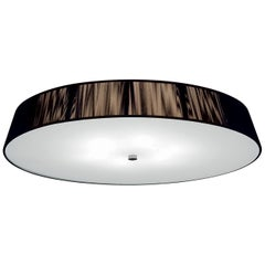 Leucos Lilith PL 70 Flush Mount in Mocha, White and Brushed Nickel by Design Lab