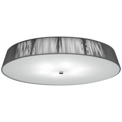 Leucos Lilith PL 70 Flush Mount in Silver, White & Brushed Nickel by Design Lab