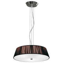 Leucos Lilith S 40 Pendant Light in Mocha and Brushed Nickel by Design Lab