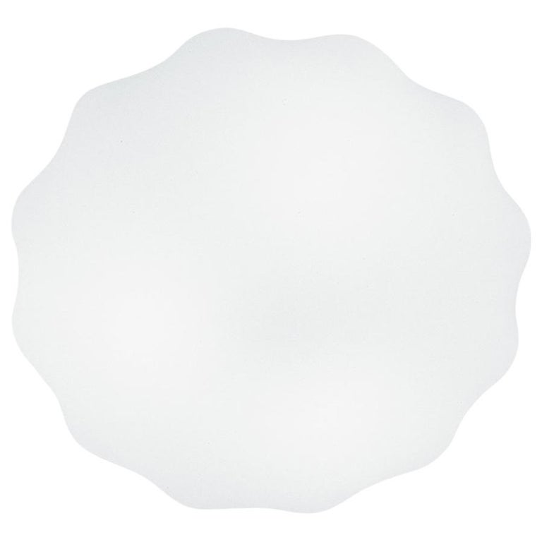 Leucos Nubia P-PL 45 LED Sconce in Satin White by Toso, Massari & Associates For Sale