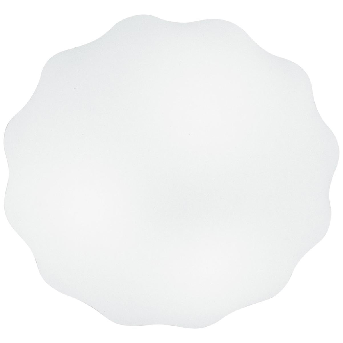 Leucos Nubia P-PL 60 LED Sconce in Satin White by Toso, Massari & Associates
