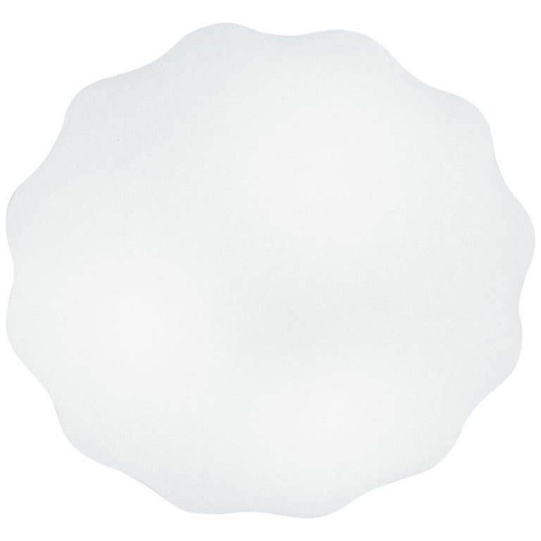 Leucos Nubia P-PL 60 LED Sconce in Satin White by Toso, Massari & Associates For Sale