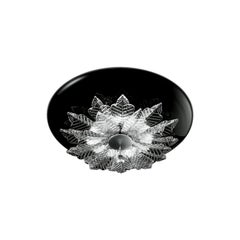 Leucos Orleans PL Flush Mount in Black & Crystal & Chrome by MariToscano
